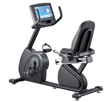 Vélo Semi-Allongé Professionnel Circle Fitness R8 Ecran Entertainement Plus